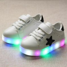 >> Click to Buy << 2017 spring soft leather children shoes girls LED glowing boys shoes brand kids casual sneakers with Light up Euro size 21-30 #Affiliate