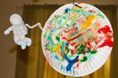 Shaving Cream Painted Planet
