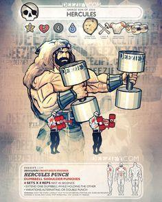 shoulder exercise: shoulder punch hercules