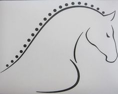 Dressage Horse tattoo....maybe??? Just with a different eye and maybe a little different face