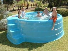 Ground Pools by Horizon Pools are perfect for an easy installation. We ensure high quality free standing pools that are made to last. Contact us now! Homemade Swimming Pools, Portable Swimming Pools, Homemade Pools, Above Ground Swimming Pools, Swimming Pools Backyard, In Ground Pools, Pool Landscaping, Swimming Pool Designs, Oberirdischer Pool