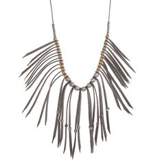 Silver Tone Fringe Necklace