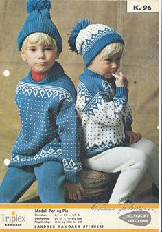 Per og Pia 96 Knitting For Kids, Crochet For Kids, Baby Knitting, Crochet Baby, Knit Crochet, Knit Baby Sweaters, Knitted Baby Clothes, Sweater Knitting Patterns, Knit Patterns