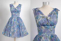 Lovely shape! \\ 1950's Shannon Rodgers Vintage Dress Sheer by hemlockvintage, $148.00