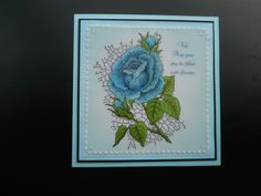 Stamped the image and coloured with promarkers Crackling Rose