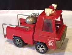 VINTAGE FIRE TRUCK 1960-70S BUDDY L  RED METAL TOY TRUCK COLLECTABLE JAPAN #BUDYL