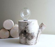 White Birch Forest Lamp