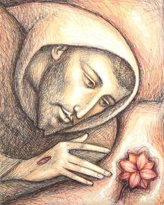 Francis Of Assisi, St Francis, Religious Pictures, Religious Art, Clare Of Assisi, Holly Pictures, Spirited Art, Biblical Art, Sacred Art