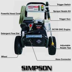 SIMPSON MSH3125-S 3200 PSI 2.5 GPM Gas Pressure Washer Review Best Pressure Washer, Pressure Washers, Better Life, Save Energy, Outdoor Power Equipment, Stuff To Buy, Engine, Honda, Budget