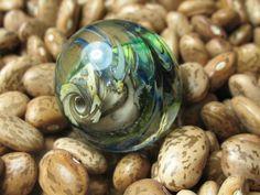 Into the Fire Lampwork Art Beads ~Mer Bleue~ Artist handmade glass focal bead