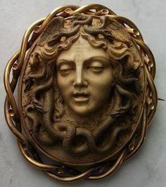 Medusa lava cameo