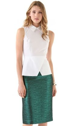 Tibi Peplum Top  Hmm this is definitely my 2nd favorite out of all the shirts I posted.