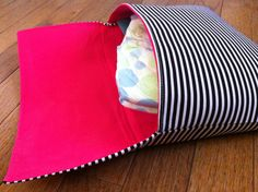Organic Cotton Diaper Clutch Black White and Pink by ThePurpleIvy, $20.00