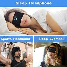 Bluetooth Sleeping Headphones Sports Headband Soft Elastic Comfortable for Workout, Jogging, Yoga ❤️ Pin it please on your board
