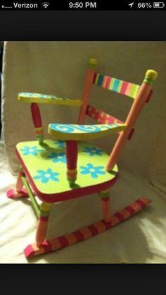 Flower rocking chair