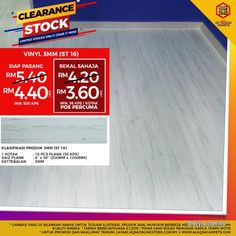 Other for sale, RM4 in Klang, Selangor, Malaysia. Cheapest Sale At Alaqsa Carpets For Vinyl Flooring     Stock Clearance Sale For Wood Vinyl- Buy Now
