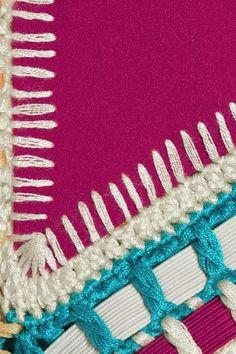 Kiini - Coco Crochet-trimmed Triangle Bikini Top - Plum -