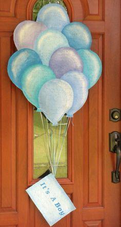 It's a boy burlap balloon door and wall hanger. $35.00, via Etsy.