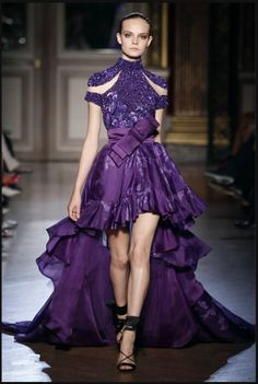purple short dresses with high collar