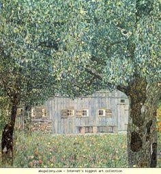 Gustav Klimt. Farmhouse in Upper Austria. Olga's Gallery.
