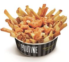 New York Fries' Butter Chicken Poutine Chicken And Chips, Butter Chicken, Vegan Food Truck, Poutine Recipe, New York, Hot Dog, I Love Food, Food Network Recipes, Recipes