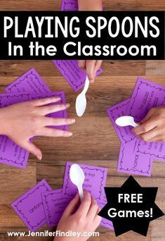 If you have ever played Spoons then you know how fun and engaging that game is Have you ever thought about playing Spoons in the classroom This post explains how teachers. Teaching Activities, Teaching Math, Teaching Tips, Teaching Themes, Team Building Activities, Baby Activities, Teaching Strategies, Therapy Activities, Geek House