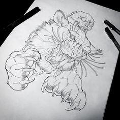 Regardez cette photo Instagram de @zanderxmasom • 556 J'aime #illustration #woman #girl #neotraditionel #neotraditional #neo #traditionel #traditional #draw #drawing #tattoo #ink #tattooed #inked #sketch #sketches #men #man #flowers #animals #roses tiger felin