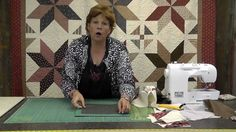 "The Big Star Quilt - Quilting Made Easy! - using layer cakes to make 4 HST (each star block is approx 25"" wide using 10"" layer cake)"