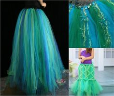 underwater mermaid costume--mermaid-tulle-rock-do it yourself- The Effective Pictures We Offer You About diy carnival dress A quality picture can tell you many things. You can find the most beautiful Carnival Dress, Diy Carnival, Carnival Rides, Carnival Food, Karneval Outfit, Mermaid Diy, Mermaid Skirt, Fairy Dress, Cosplay Dress