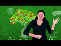 """The Giving Tree ASL Story """"This is one of my teachers at CSUN she is an amazing signer!"""""""