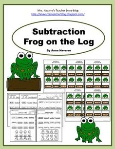 Frog on the Log is a simple matching game that provides students with subtraction practice.