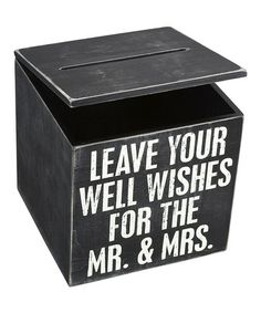 Loving this 'Mr. & Mrs.' Wedding Cards Box on #zulily! #zulilyfinds