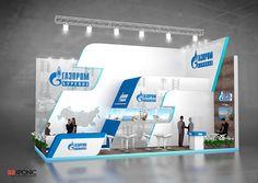 """Проект выставочного стенда для компании """"Газпром бурение"""".Выставка """"Нефть и Газ 2013""""."""