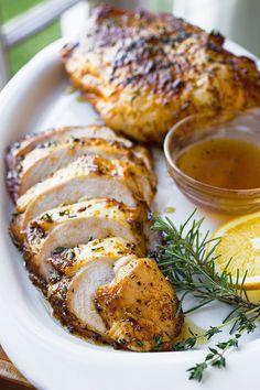 Orange-Honey Glazed Turkey Breast ~ A deliciously unique flavor twist for your Thanksgiving turkey! | thecozyapron.com