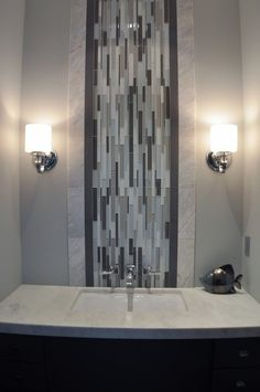 Bathroom Tiles Vertical Or Horizontal vertical accent tile in contemporary shower, from j hill interior