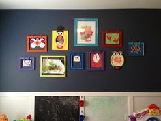 Open Back Frames to display kids artwork