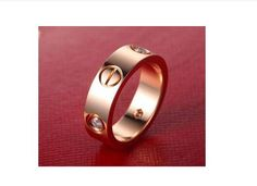 Top Titanium Steel Love Rings for Women Men Couples Anel Cubic Zirconia Wedding Rings Bands Aneis Anillos Bague Femme