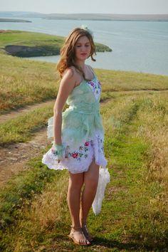 Romanticshabby chicmori girl marie by irinacarmen on Etsy, $138.00