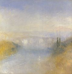 Joseph Mallord William (JMW) Turner (1775‑1851). A River Seen from a Hill,  Date circa 1840-5, oil on canvas