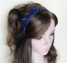14,-  //  Haarreif Schleife dunkelblau Brautschmuck von Cosara auf DaWanda.com