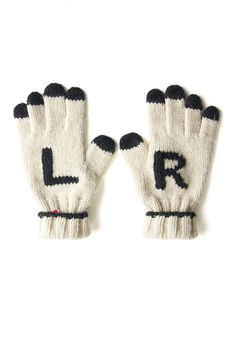 Cute and helpful gloves for when I'm pointing which way to go!