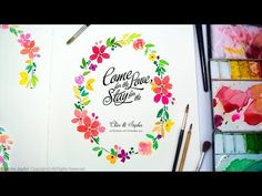 Jay Art - Watercolor Wedding Invitation / Greeting Card by Jay Art - YouTube