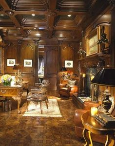 Just add a bear skin rug and that's the manliest room I've ever seen