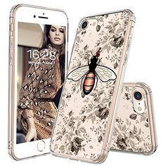 iPhone 8 Case, iPhone 7 Cover, MOSNOVO Fashion Bee Pattern Clear Design Transparent Plastic Hard Back with TPU Bumper Protective Case Cover for Apple iPhone 7 / iPhone 8 inch) Cool Iphone 7 Cases, Iphone 7 Covers, Iphone Cases For Girls, Best Iphone, Cute Phone Cases, Apple Iphone, Samsung Galaxy, Galaxy S8