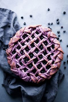 This delicious take on blueberry pie adds blueberries to the crust as well, creating a subtly purple crust after baking. This pie is vegan friendly, refined sugar free, and includes a gluten-free alternative! Pie Recipes, Dessert Recipes, Nutella Recipes, Just Desserts, The Best, Sweet Tooth, Sweet Treats, Food And Drink, Gourmet