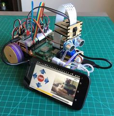 """Picture of Mobile Station prototype for Environmental Data Capture (""""a Mars Rover emulator"""")"""