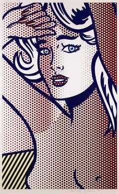 Roy Lichtenstein - Nude with blue hair, 1994