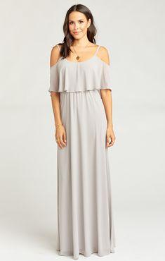 ad6f0e988228 Caitlin Ruffle Maxi Dress ~ Dove Grey Chiffon | Show Me Your MuMu Mumu  Wedding,