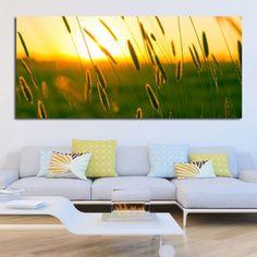 Πίνακας σε καμβά στάχυα σε ηλιοβασίλεμα
