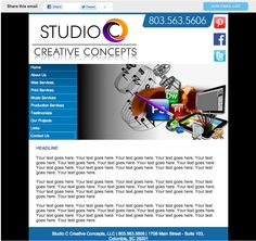 sample custom HTML email template Us Web, Html Email Templates, Printing Services, Creative